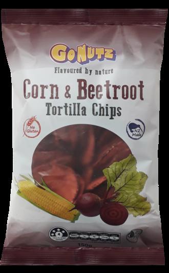 Corn & Beetroot Tortilla Chips 150g - 12 Units