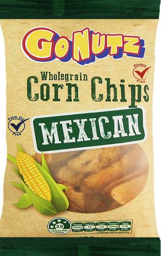 Corn Chips Wholegrain Mexican GF 150g - 12 Units