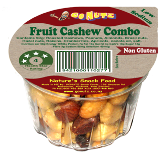 Fruit Cashew Combo Tub 50g -18 Ctn