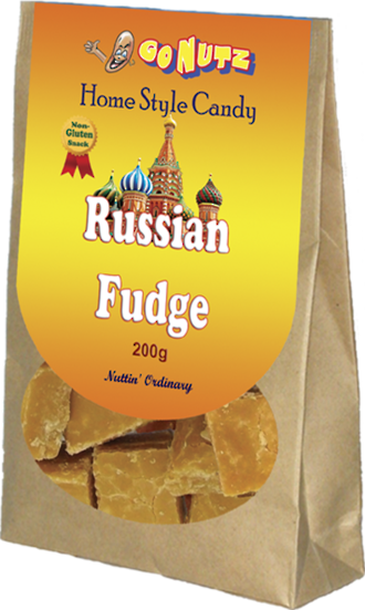 Home Style Russian Cashew Fudge 200g - 12 Units