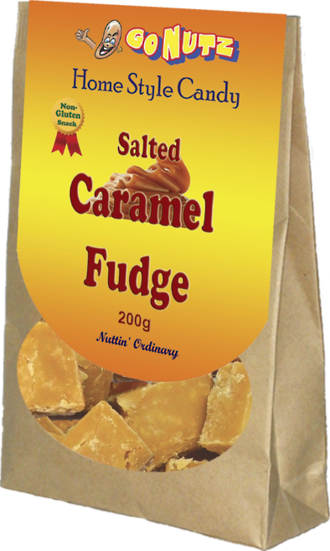 Home Style Salted Caramel Fudge 200g - 12 Units