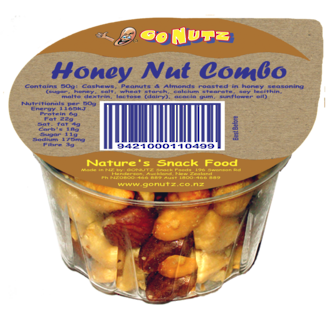 Honey Nut Combo Tub 50g - 18 Ctn