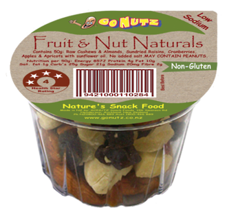 Nut Naturals Fruit & Nut Tub 50g - 12 Tray