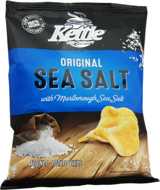 Kettle Chips Original Sea Salt 40g - 24 Ctn
