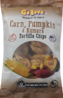 Corn, Pumpkin & Kumara Tortilla Chips 150g - 12 Units