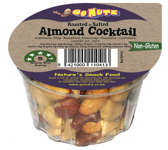 Almond Cocktail Tub  50g - 18 Ctn