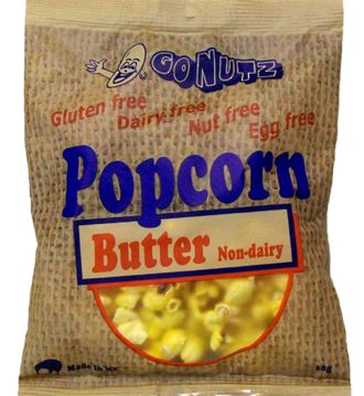GONUTZ Popcorn Butter GF 30g bag - 9 Units