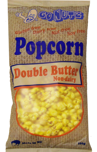 Popcorn Double Butter GF 100g bag - 9 Units