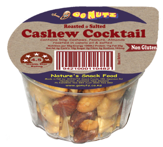 Cashew Cocktail Tub 45g - 18 Ctn
