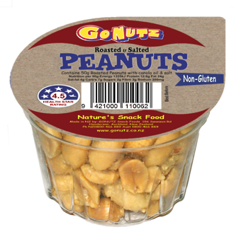 Peanuts Roasted Salted Tub 50g - 18 Ctn