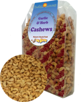 Cashews Gourmet Garlic & Herb Roasted Salted - 1kg 1pk