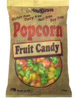 Popcorn Fruit Candy GF 100g bag - 12 Units