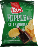 ETA Chips Ripple Cut Salt & Vinegar 40g - 24 Ctn