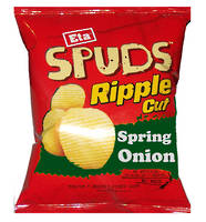 SPUDS Chips Ripple Cut Spring Onion 40g - 24 Ctn